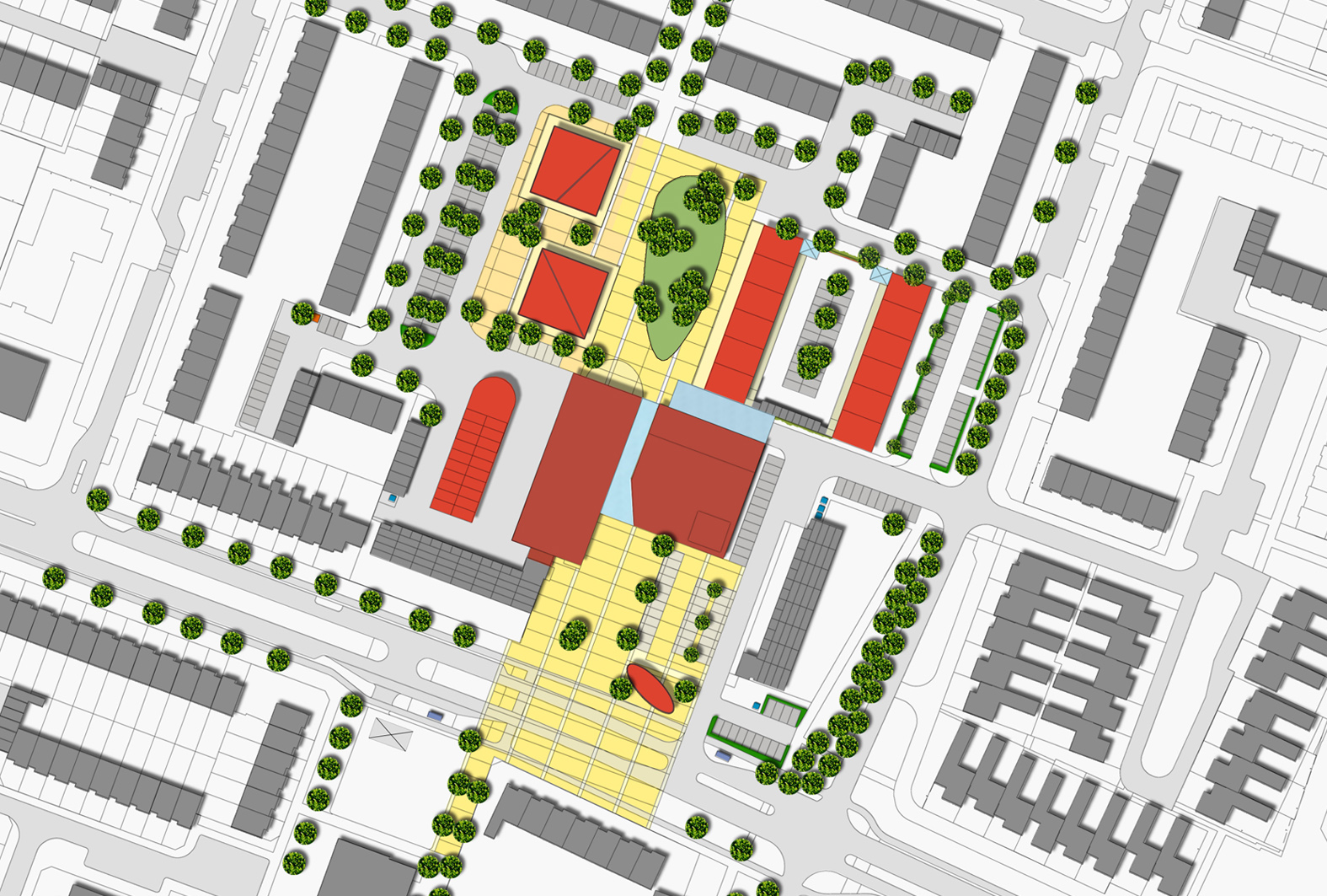 Winkelcentrum Stad en Lande Noord te Huizen